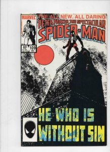 Peter Parker SPECTACULAR SPIDER-MAN #109 VF+, Sin Eater 1976 1985 more in store