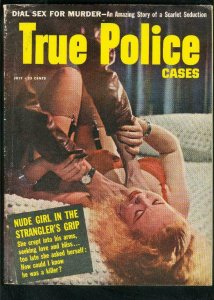 TRUE POLICE CASES-JULY 1956-VAMPIRES KISS-GREATEST SIN-CREEPER-ALAN HYND VG