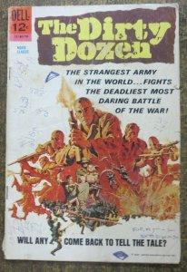THE DIRTY DOZEN #710 (Dell Movie Classics, 1967) FAIR back cover tear