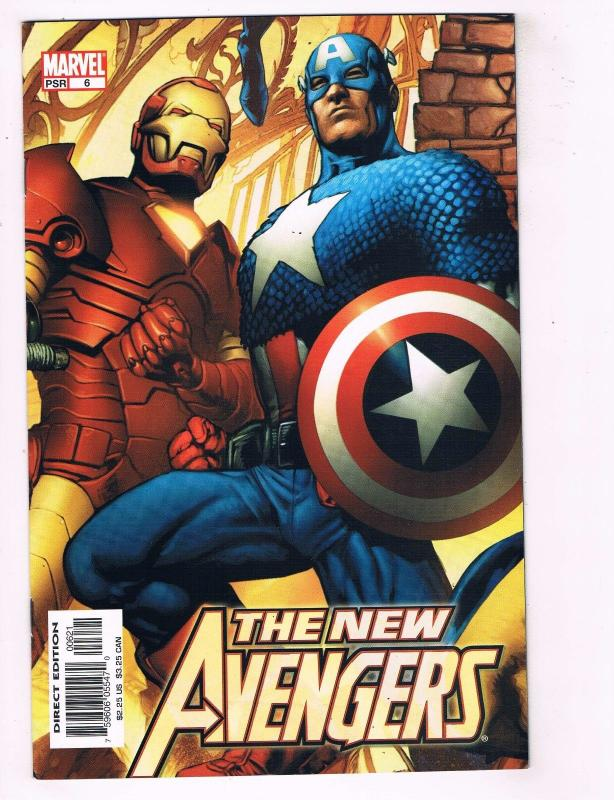 New Avengers # 6 NM 1st Print Variant Marvel Comic Book Iron Man Hulk Thor BN10