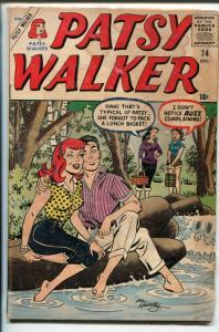 PATSY WALKER #74 1957-MARVEL-HEADLIGHT COVER-SPICY-good