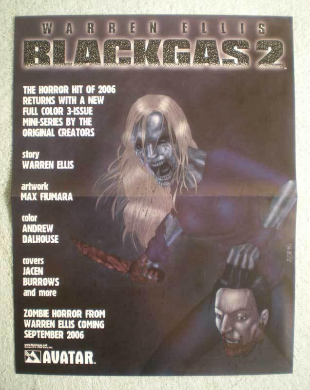 BLACKGAS 2 Promo Poster, Zombies, Warren Ellis, Unused, more in our store