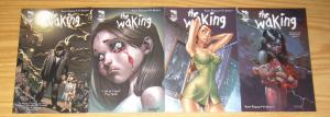 the Waking #1-4 VF complete series - j. scott campbell - david finch - zenescope