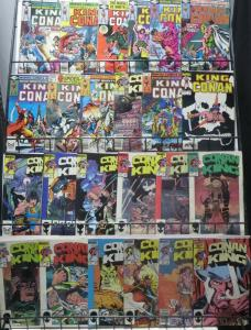 KING CONAN COLLECTION! (Marvel, 1980) 24 ISSUES! Thomas! Buscema! CROMM!