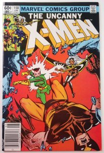 The Uncanny X-Men #158 - 1st Rogue in Title - Newsstand  - NM - Marvel 1982