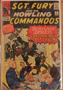 Sgt. Fury #4 (1963) Good- 1.8 - Low Grade Complete