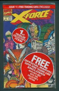 X-Force #1  (Poly-Bagged w/Shatterstar Card) NM+/  August 1991