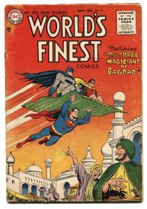 World's Finest  #79 1955-DC Superman Batman Tomahawk Green Arrow VG