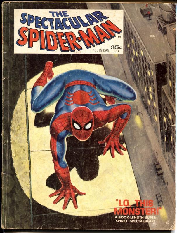 SPECTACULAR SPIDER-MAN #1-1968-romita art-MAGAZINE SIZE-COLOR