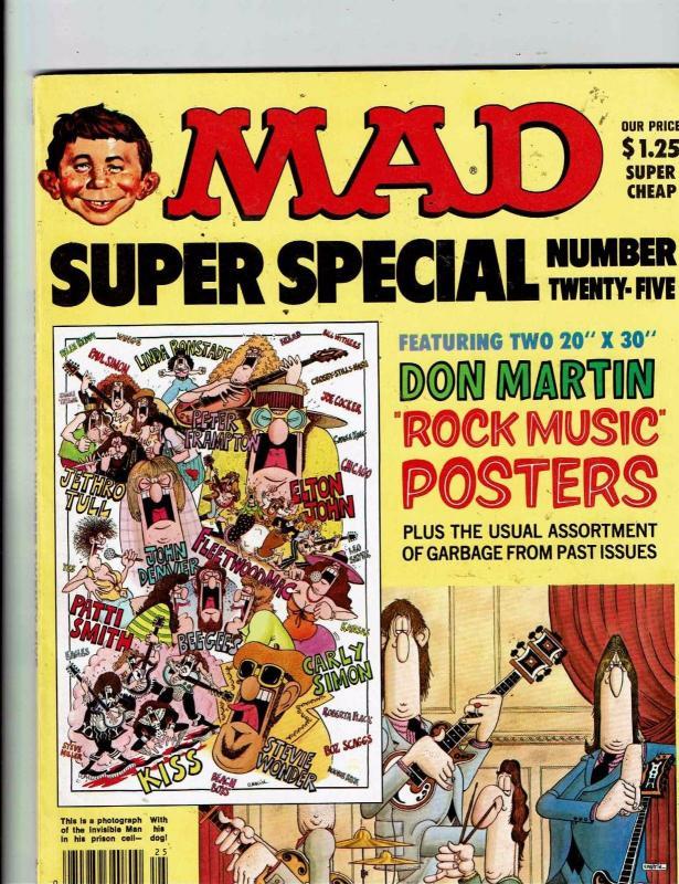 Mad Super Special # 25 Comic Book Magazine Comedy Parody Alfred Neuman J146