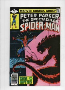 Peter Parker SPECTACULAR SPIDER-MAN #32 VF/NM, Reptile Rage 1976 1979