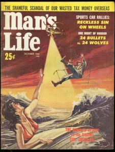 MAN'S LIFE PULP OCT 1960-SPICY CVR-SPORTS CAR RALLY-GGA FN