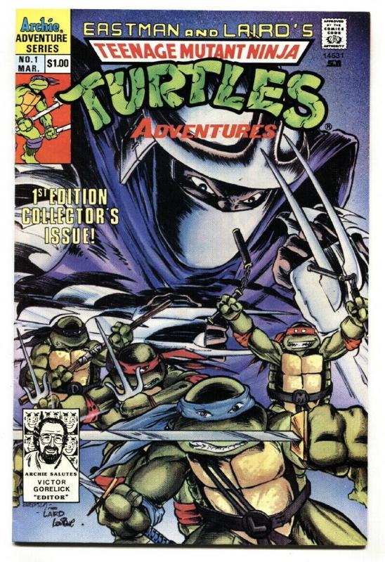 TEENAGE MUTANT NINJA TURTLES ADVENTURES #1 First ISSUE-1989