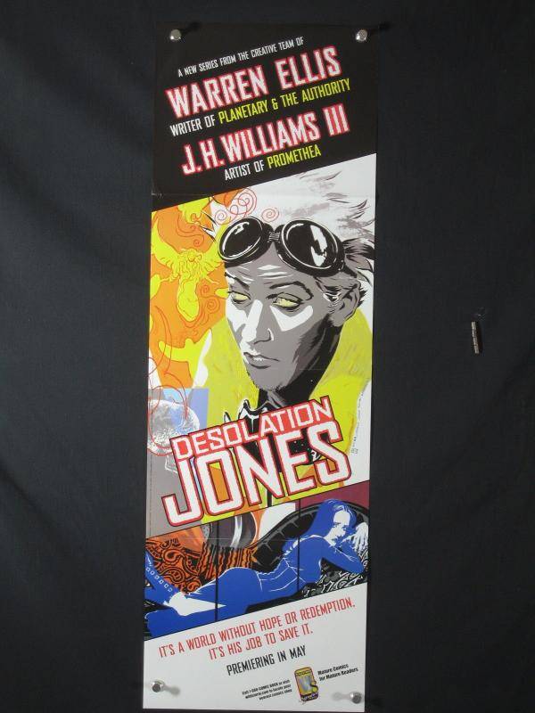 Desolation Jones DC Comics Promo Poster 34x11