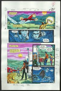 ROBIN #4-1990 PRODUCTION ART-COLOR GUIDE PG 4-TOM KYLE VG