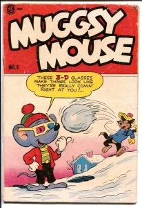 Muggsy Mouse #5 1963-3-D glasses cover-golf story-final issue-VG