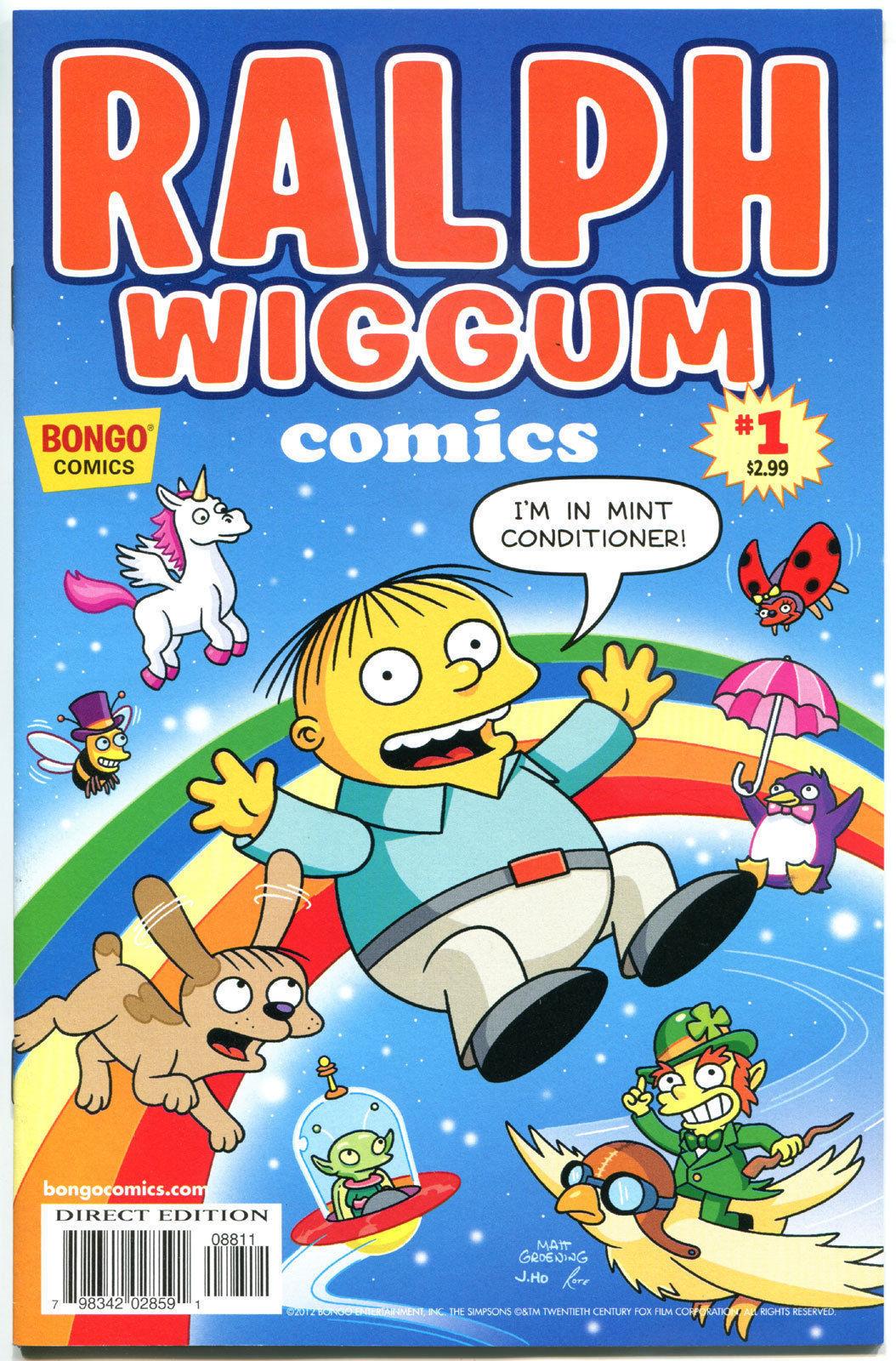 RALPH WIGGUM #1, NM, Police child, Bart Simpson, Matt