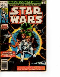 KEY ISSUE MARVEL Star Wars (1977 Series) #1 Newsstand Reprint JUL 1977 VG+