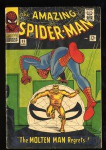 Amazing Spider-Man #35 VG- 3.5 Meteor Man! Marvel Comics Spiderman