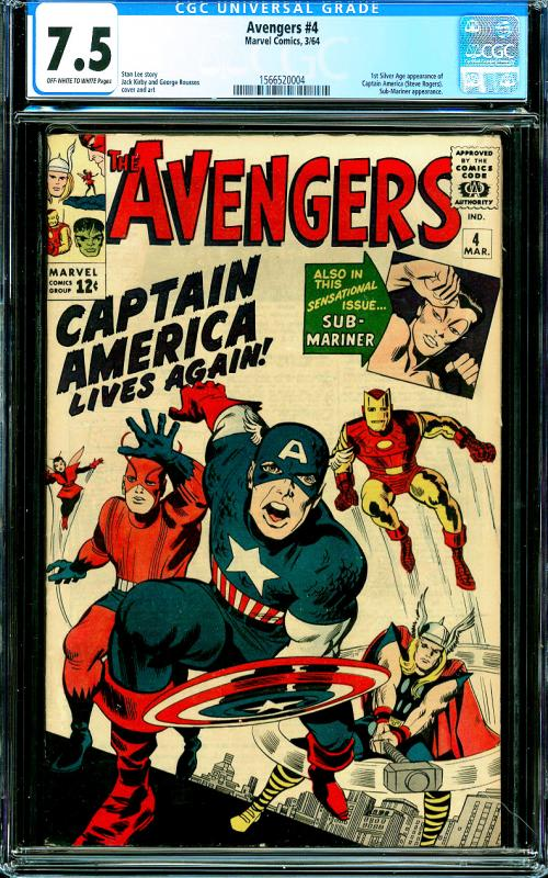 Avengers #4 CGC Graded 7.5 1st Silver Age Captain America