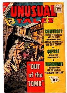 UNUSUAL TALES #32-1962-MUMMY COVER-HORROR/SCI-FI-CHARLTON VG-