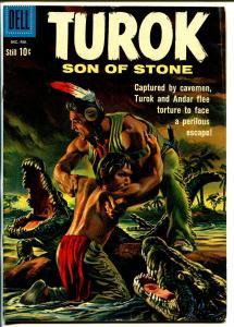 Turok Son Of Stone #22 1960-Dell-pre-historic Indians-alligator attack-VG/FN