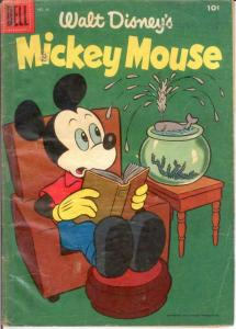 MICKEY MOUSE 45 GOOD Dec.-Jan. 1956 COMICS BOOK