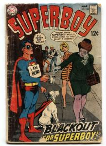 Superboy #154 comic 1968-DC Silver Age- Blind beggar cover G