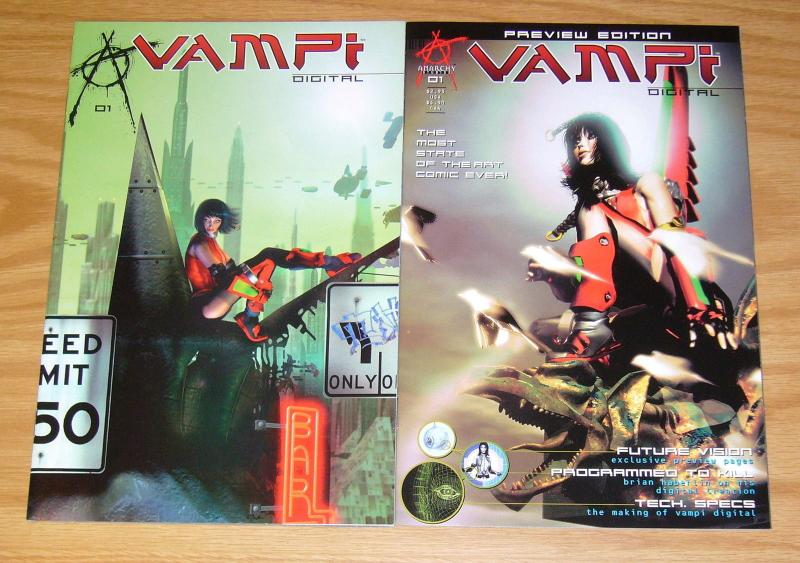 Vampi: Digital #1 VF/NM one-shot comic + preview - vampirella bad girl one-shot