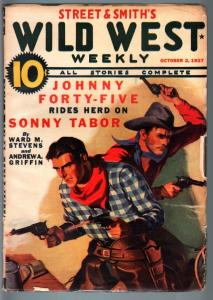 WILD WEST WEEKLY-10/2/1937-PULP-JOHNNY FORTY-FIVE-SONNY TABOR FN