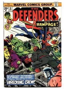 THE DEFENDERS #18 Luke Cage  Wrecking Crew issue 1974 comic book