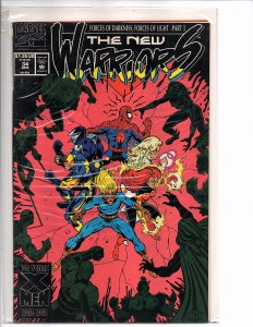Marvel Comics (1990) New Warriors #34 Darick Robertson Art Spider-man Darkling