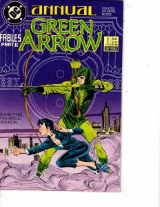 Lot Of 2 DC Comic Books Annual Green Arrow #1 and Special Hawkman #1  ON6