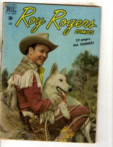 Roy Rogers # 25 VG Dell Golden Age Comic Book Western Cowboy Trigger JL8
