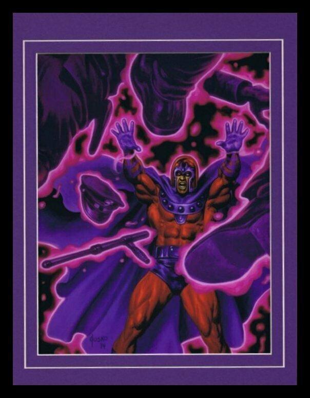 X Men Magneto Framed 11x14 Marvel Masterpieces Poster Display