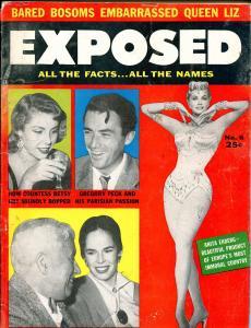 Exposed #6 5/1956-Sophia Loren-Brigitte Bardot-Con men-exploitation-G/VG