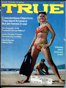 True 5/1969-Fawcett-swimsuit cover-Steve McQueen-pulp thrills-G