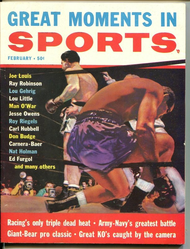 GREAT MOMENTS IN SPORTS #1 02/1957-1ST ISSUE-JOE LOUIS-SOUTHERN STATES-vf
