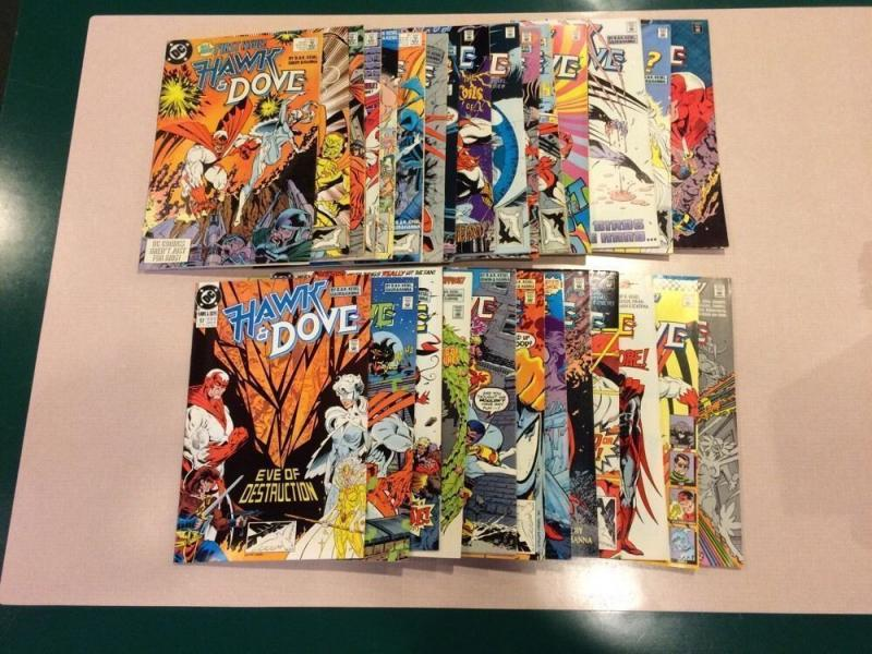 Hawk And Dove 33 Book Lot 1st Series 1-5 Plus 2nd Series