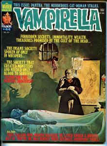 Vampirella #44 1975-Warren-bloody monster cover-terror & mystery stories-VF