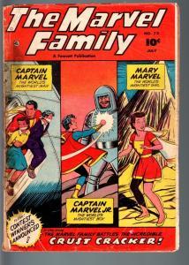 MARVEL FAMILY #73-1952-CAPTAIN MARVEL-MARY MARVEL-KING KULL-WORLD LAND SPEE FR/G