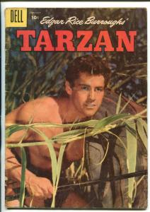 TARZAN #88-1957-DELL-GORDON SCOTT COVER- BURROUGHS- MARSH- MANNING-vg minus