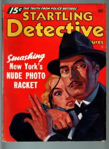 STARTLING DETECTIVE ADVENTURES PULP-DEC 1935-HUEY LONG DEATH PLOT-NY NUDE P VG