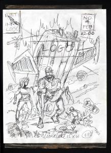 CAPTAIN COSMOS #4-PRELIMINARY SKETCH-NICK CUTI-ORIGINAL ART