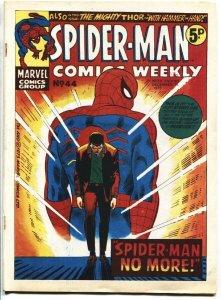 SPIDER-MAN COMICS WEEKLY #44 1973-Amazing Spider-Man #50-RARE UK edition