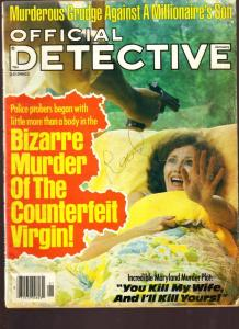Official Detective Magazine January 1979- Counterfeit Virgin
