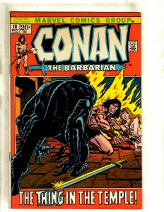 Conan The Barbarian # 18 VF/NM Marvel Comic Book Kull King Red Sonja Warrior RS1