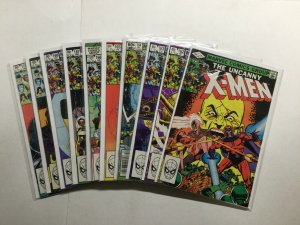 Uncanny X-Men 161-170 Lot Run Set Very Fine Vf 8.0 Marvel