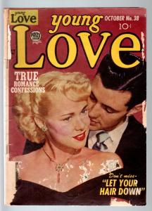 YOUNG LOVE #38-1952-PRODUCED BY SIMON & KIRBY-PHOTO COVER-PRIZE-fair