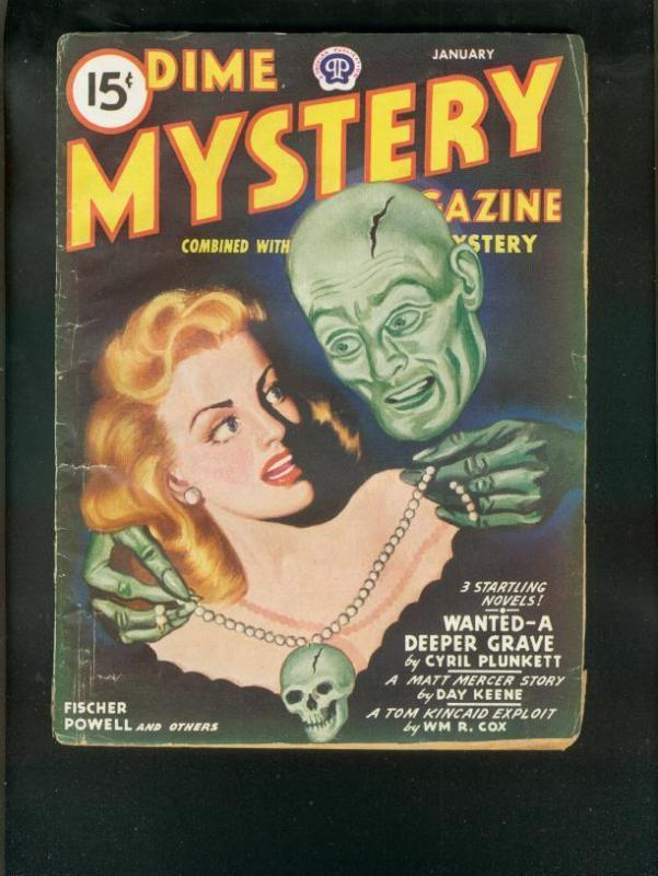 DIME MYSTERY PULP 1/46-SKULL & WEIRD MENACE COVER-GGA VG